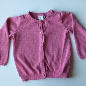 Pink Button Up Cardigan * Size 12-18M